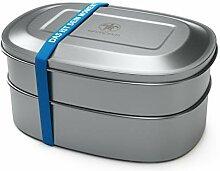 qarapara - Edelstahl Lunchbox/Brotdose mit 2