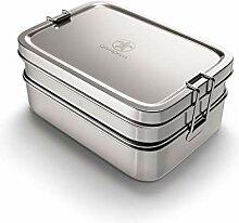 qarapara - Große Edelstahl Brotdose/Lunchbox mit