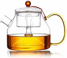 QARYYQ Glasteekanne, Dampfende Teekanne,