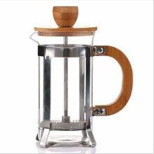 QARYYQ Method Drucktopf Kaffeetopf, Bambus Holz
