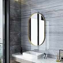 QAZ Gerahmter ovaler Badezimmerspiegel aus