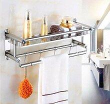 QAZ Handtuch Edelstahl Badezimmer Regal Wand