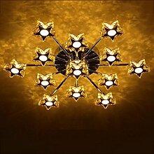 QAZ Kristall Lampe Deckenleuchte, Deckenleuchte,