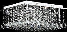 QAZ Moderne K9 LED Kristall Kronleuchter,