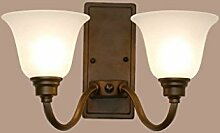 QAZ Wand Lampe E27 Schlafzimmer Kopfteil Doppel