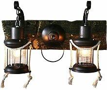 QAZ Wand Lampe Retro Retro Double rustikale