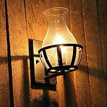 QAZ Wand Lampe Retro rustikale Wandleuchte Licht