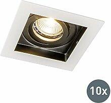 QAZQA Design/Modern Einbaustrahler Carree weiß -