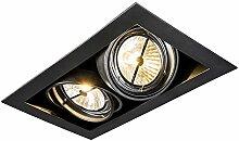 QAZQA Design/Modern Einbaustrahler schwarz