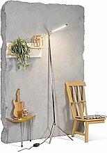QAZQA Design / Modern / Stehleuchte / Stehlampe / Standleuchte / Lampe / Leuchte Lazy Lamp Chrom Dimmer / Dimmbar / Innenbeleuchtung / Wohnzimmer / Schlafzimmer Metall Länglich inklusive LED (nicht au