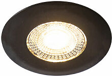 Qazqa - Einbauspot schwarz inkl. LED 3-Stufen
