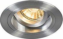 QAZQA Modern Einbaustrahler rund Aluminium/Silver