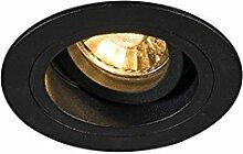QAZQA Modern Einbaustrahler rund schwarz dreh- und