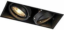 QAZQA Modern Einbaustrahler schwarz drehbar und