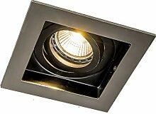 QAZQA Modern Einbaustrahler Stahl/Silber/nickel