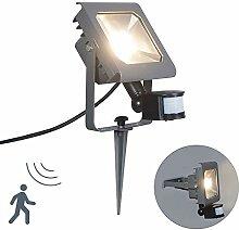 QAZQA Modern LED Außenstrahler/Strahler Radius