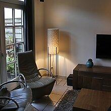 QAZQA Modern Stehleuchte / Stehlampe / Standleuchte / Lampe / Leuchte Rich taupe / Innenbeleuchtung / Wohnzimmer / Schlafzimmer / Küche Metall / Textil / Rund LED geeignet E27 Max. 1 x 60 Wa
