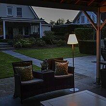 QAZQA Modern Stehleuchte / Stehlampe / Standleuchte / Lampe / Leuchte Virginia für den Außenbereich / Außenbeleuchtung / Wohnzimmer / Schlafzimmer Aluminium / Kunststoff / Metall / Rund / Länglich / L