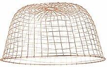 QAZQA Stahl Schirm Basket 60 Kupfer, Rund konisch