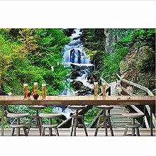 Qbbes 3D Tapete Holzbrücke Landschaft Tapete für