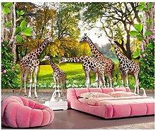 Qbbes Fototapete Tierwelt Giraffenhaus Und Wald