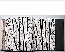 Qbbes Schwarz-Weiß-Zweige Tapete Rolls für TV