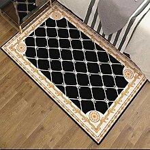 QBL Wohn-Teppich, Retro Polyester Fußauflage für