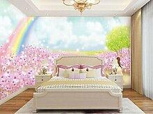 QBTE 3D-Wandbild mit Regenbogen-Motiv,