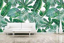 QBTE 3D-Wandbild mit tropischen Pflanzenblättern,