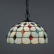 QCKDQ 12-Zoll-Tiffany-Stil Kronleuchter,