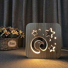 QCKDQ Nachtlichter für Kinder, 3D Stern um den