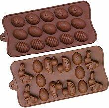 Qcool Silikon Backform Ostereier Schokoladenform