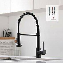 QD Niederdruck Wasserhahn Küche Schwarz