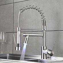 QD Wasserhahn Küche Gebürstetes Nickel mit LED