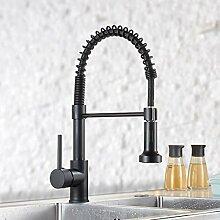 QD Wasserhahn Küche Schwarz Mischbatterien fuer