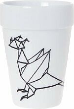 QDO Thermo-Becher mit Origami-Drachenmotiv