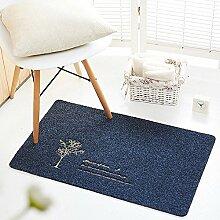 Qearly Indoor und Outdoor Lovely Polyester Fussmatte Fussabstreifer Schmutzfangmatte Floor Mat-Dunkel grau