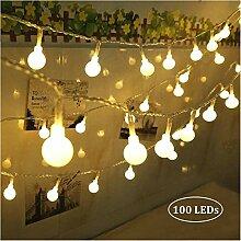 Qedertek 100 LED Kugel Lichterkette