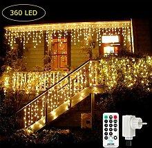 Qedertek 360 LED Lichterkette Eisregen, 9M