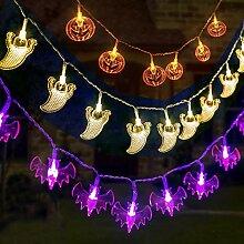 Qedertek Halloween Dekoration Lichterkette, 3