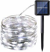 Qedertek Solar Kupferdraht Lichterkette, 12M 100