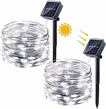 Qedertek Solar Kupferdraht Lichterkette, 2 Stück