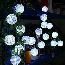 Qedertek Solar Lampion Lichterkette Außen 6 Meter