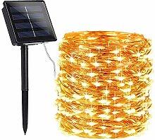 Qedertek Solar Lichterkette Aussen, 22M 200 LED
