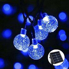 Qedertek Solar Lichterkette Außen 6M 30 LED Kugel