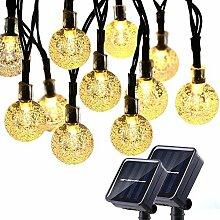 Qedertek Solar Lichterkette Aussen mit 30 LED