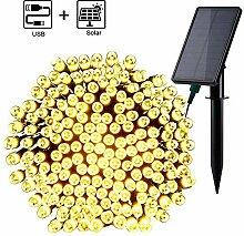 Qedertek Solar Lichterkette Außen mit USB