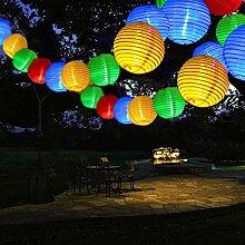 Qedertek Solar Lichterkette Lampion Außen 6 Meter