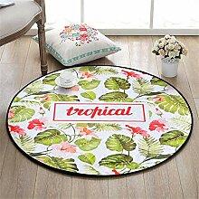 QEQEQE Kinderzimmer-Teppich, rund, für