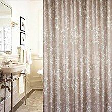 QEWA® Drucken Duschvorhang Badezimmer Wasserdicht Polyester Stoff 150x180cm (60x72 Zoll) , 180*220cm